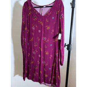 Gorgeous Old Navy Purple Shift Dress. XL. Tags.